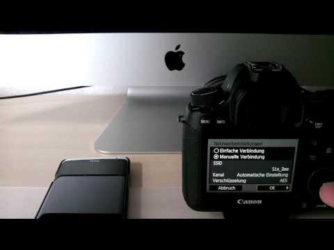 Canon EOS 6D Wifi / WLAN Konfiguration für EOS Remote App