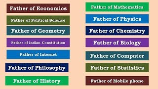 Father's of different Subjects