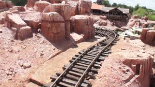 Big Thunder Mountain Railroad (HD POV Front) Magic Kingdom, Orlando Florida