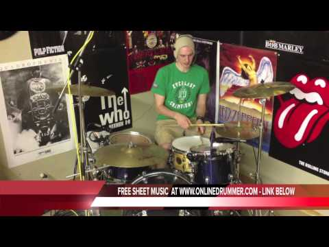 Drum Lesson #111 - Travis Barker Style Drum Fill - Fast & Simple video