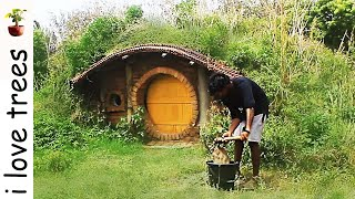 hobbit house I primitive & modern technology I door & walls