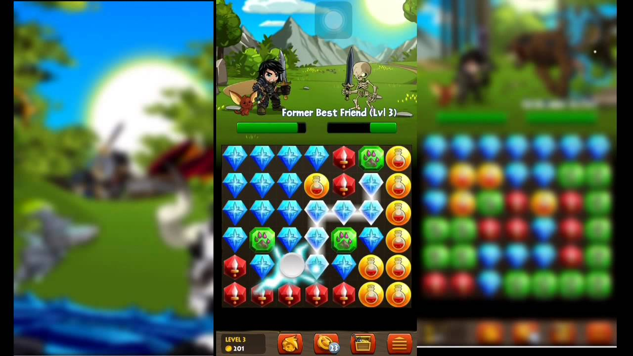 Battle Gems (Adventure Quest) First Game Play HD - YouTube