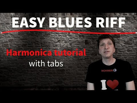 Easy Blues Riff - HARMONICA TUTORIAL (with Tabs)