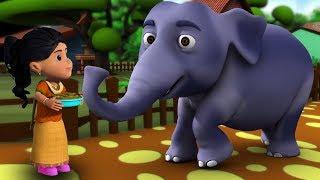 Hathi Raja Kahan Chale   Hindi Nursery Rhymes   Baby Rhymes   Kids Song   हाथी राजा कहाँ चले