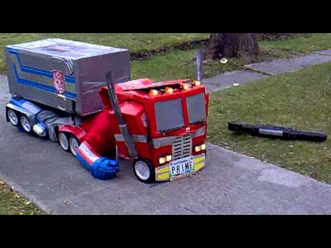 Optimus prime halloween costume.mp4