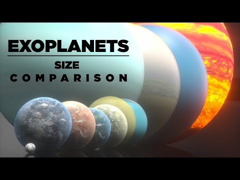 EXOPLANETS size Comparison   3D Animation