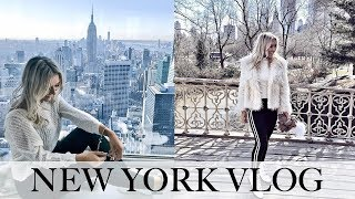 New York Travel Vlog: Top Of The Rock, Central Park, Shopping, Brooklyn Bridge, Best Food In NYC