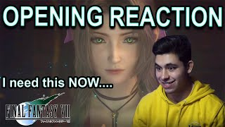FFX Fan REACTS to Final Fantasy VII Remake Opening Movie (SO MUCH HYPE)