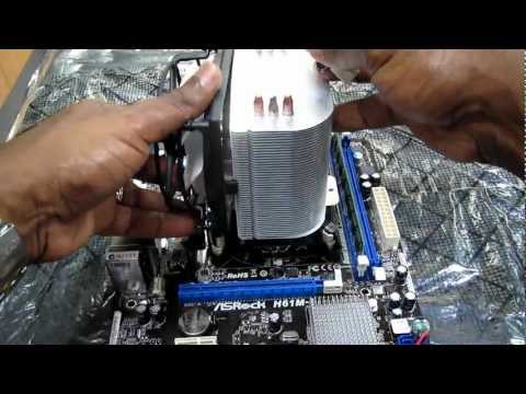 How to Install Arctic Cooling Freezer CPU HeatSink into Asrock H61M-S Intel Mainboard