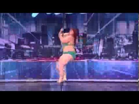 una gorda bailando