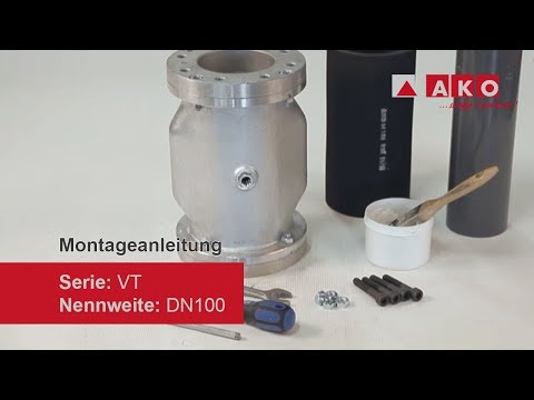 Gummieinsatz wechseln: AKO Quetschventil (pneumatisch), Serie VT, DN100