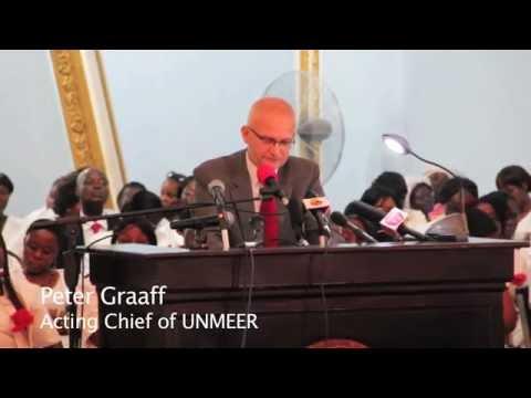 UNMEER Chief Peter Graaff at  Ceremony Declaring Liberia Free of Ebola Virus Transmission