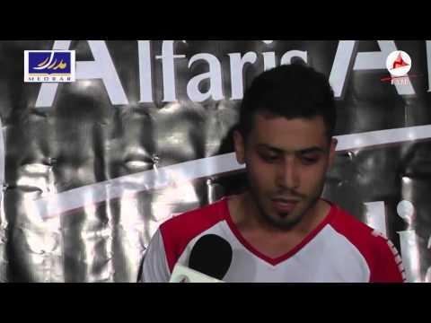 لاعب شباب سوريا مصطفى جمال بعد التعادل مع الستي HD