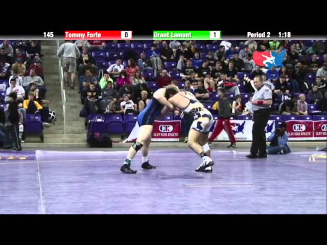 Junior 145 - Tommy Forte (TEAM INDIANA) vs. Grant Lamont (Champions Wrestling Club)