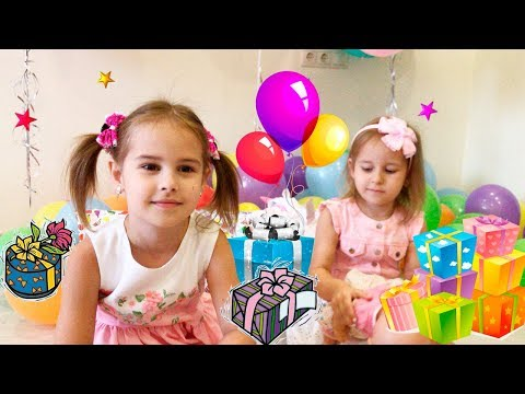 Подарки на КЛАССНЫЙ День Рождения Алины Гигантский ЛОЛ Сюрприз 4 серия и игрушки от друзей