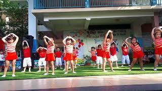 Nhảy Aerobic lễ tổng kết năm học trường mầm non nhơn nghĩa