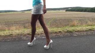 WALKING AROUND IN SOME NICE HIGH HEELS BY TAMIA