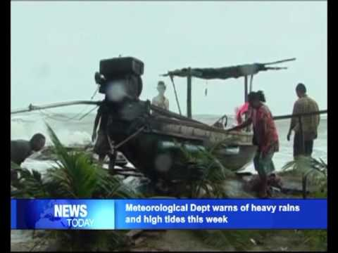 Meteorological Department warns of heavy rains and high tides this week