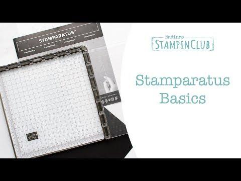 Grundlagen Stampin' Up! Stamparatus - Stempelpositionierer
