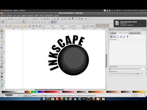 Inkscape Texto siguiendo un trayecto