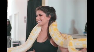 PHOTOSHOOT WITH A 13FT SNAKE!! *Crying on the inside*