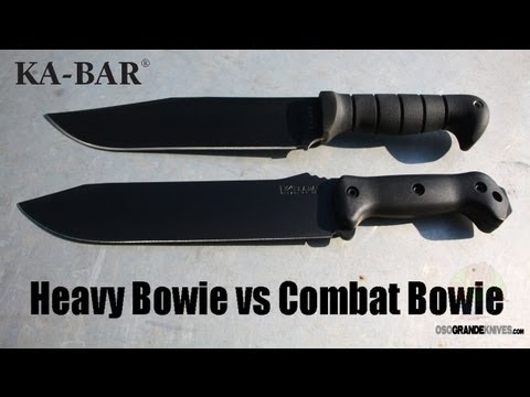 Kabar Heavy Bowie vs Becker BK9 Combat Bowie Knife Comparison   OsoGrandeKnives