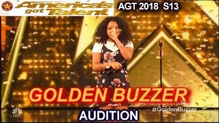 Amanda Mena GOLDEN BUZZER WINNER Natural Woman- She's Bullied America's Got Talent 2018 Audition AGT