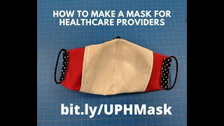 Instructional video for sewing the Olson mask (COVID-19) #FaceMask #FabricFaceMask