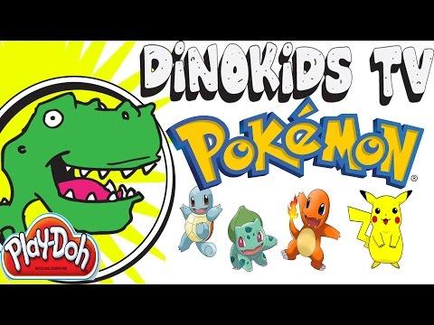 Pokemon suprise eggs 4 pokeballs dino kids tv toys learning