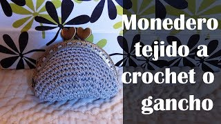 DIY Monedero tejido a crochet o ganchillo