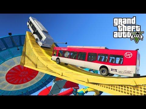 GTA V - STUNT RACES MET BUSSEN IN GTA IS HILARISCH!