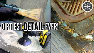DEEP CLEANING The Nastiest Car Ever! Complete Disaster Full Interior Car Detailing Transformation!