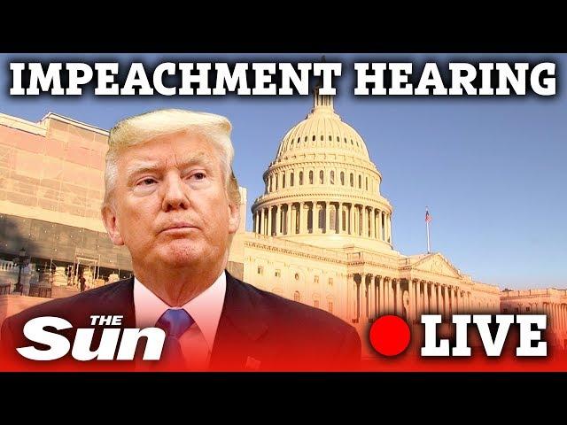 WATCH LIVE President Donald Trump public impeachment proceedings