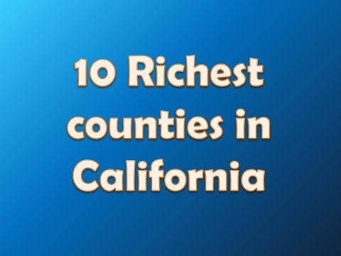 List of counties in california for Top richest cities in california
