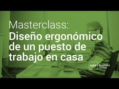 Masterclass: Diseño ergonómico de un puesto de trabajo en casa
