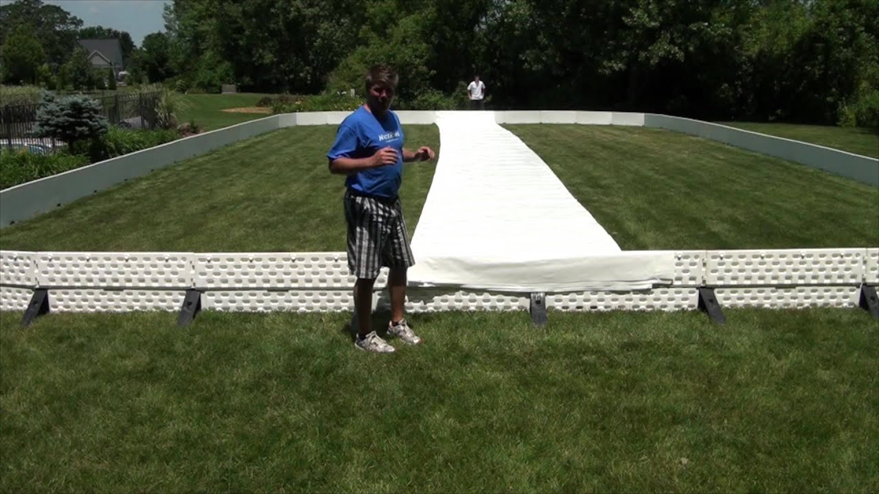 Backyard Rink Liner :  and Unfold your liner for your backyard ice rinkNiceRink  YouTube