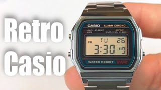 Casio A158W-1 Stainless Steel retro Digital Watch review - giveaway Oct 15, 2016