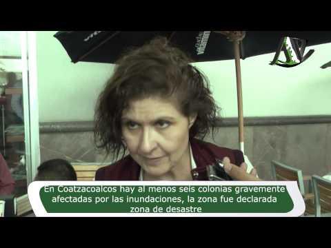 En Coatzacoalcos hay al menos seis colonias gravemente afectadas por las inundaciones, la zona fue d