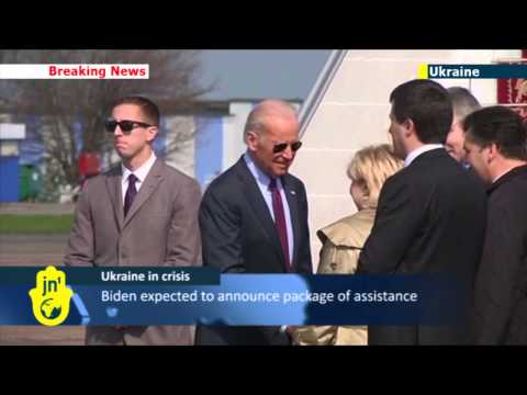 US Vice President Joe Biden arrives in Kiev: America backing Ukraine against Russian threat