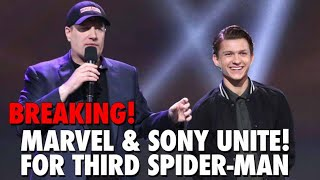 BREAKING! Marvel & Sony Back for Third Spider-Man Movie! Tom Holland & Kevin Feige Unite!