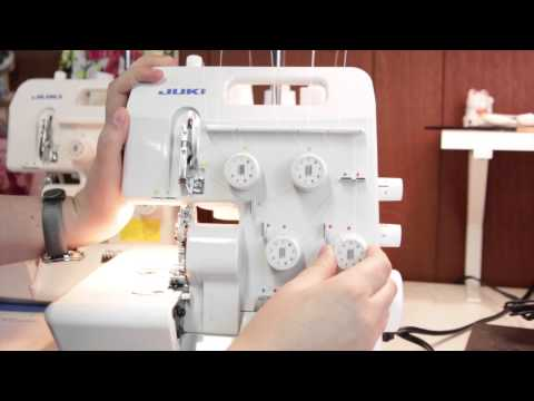 Serger 101 Threading the Juki MO 654de Machine for Roll Hemming by Create Kids Couture