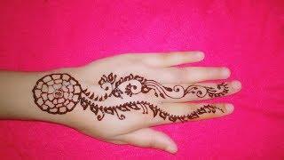 Simple easy eid mehndi design for hand. Flower mehndi design. Simple Mehndi