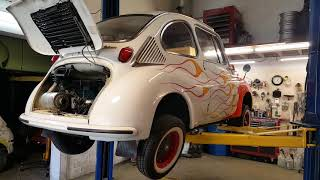 Subaru 360 2 Stroke Engine Clean and Detail