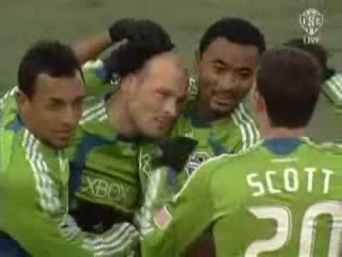Freddie Ljungberg's 1st MLS goal.. Seattle Sounders 2- Toronto FC 0 Video