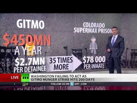 200 Days of Torture: Gitmo detainees still force fed, Obama folds his hands