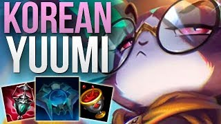 THE CORRECT WAY TO PLAY YUUMI SUPPORT | KOREAN CHALLENGER YUUMI SUPP GAMEPLAY | Patch 9.10 S9