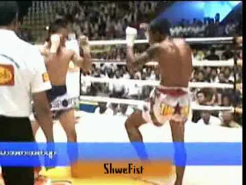 Myanmar lethwei, Tway McShawn vs Yan Gyi Aung, part 2 of 3