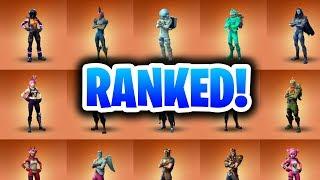 Ranking ALL 24 Legendary Fortnite Skins! (Fortnite Battle Royale All Skins Ranked!)