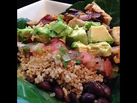 Healthy Burrito Bowl - HASfit Healthy Mexican Recipes - Healthy Taco Salad - Clean Eating