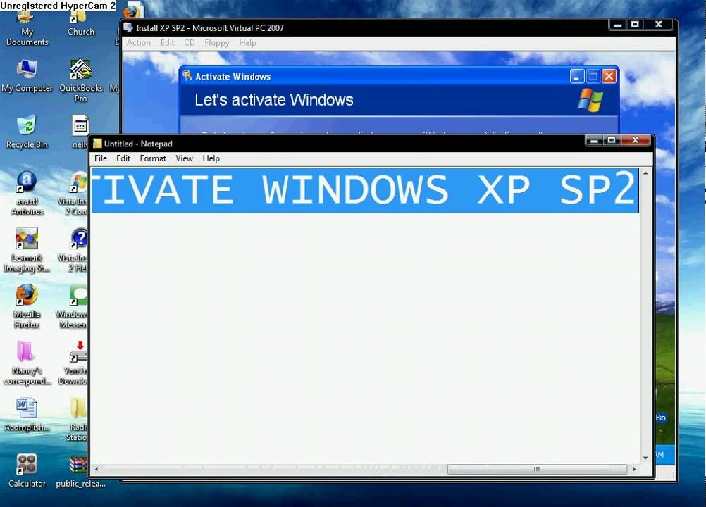 How to Legally Activate Windows XP Service Pack 2 (SP2) - YouTube